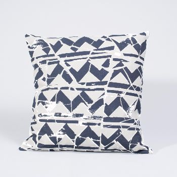 Mosaic print cushion. A little piece of hand made heaven to add to your interior accessories list! These cushions have been screen printed with our own textile inspired designs, woven with Fairtrade cotton from India and put together by social enterprise, Fabric Works, in London.