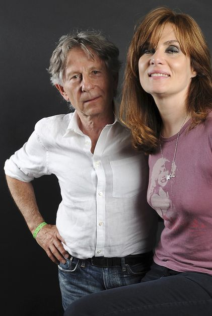 Roman Polanski and Emmanuelle Seigner photographed by Lionel Flusin in Switzerland, 2010. Getty Images.