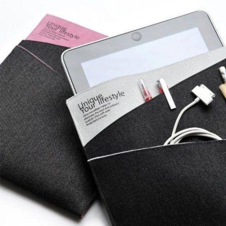 Oryginalne etui Evouni Twilled Denim Case - różowe/ jeans - iPad, iPad 2, iPad 3, iPad 4