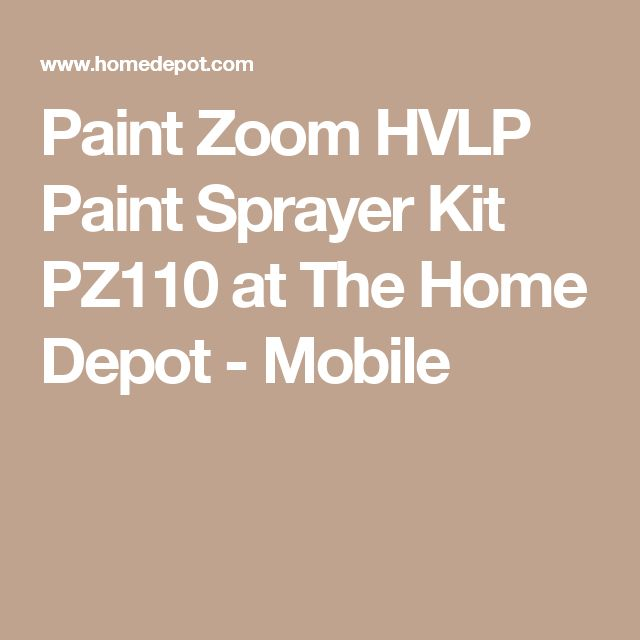 Paint Zoom HVLP Paint Sprayer Kit PZ110 at The Home Depot - Mobile