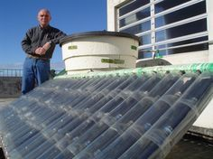 Recycled PET Solar Powered Home-made Water Heater.