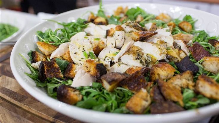 Chef Ina Garten shares a recipe for amazing roast chicken over bread and arugula salad inspired by Zuni Café's famous dish.