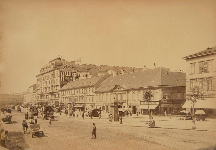 Budapest, Az egykori Orczy-ház 1890 Klösz György felvétele