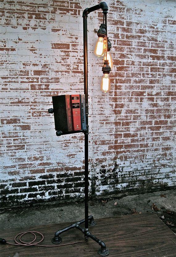 Industrial floor lamp.