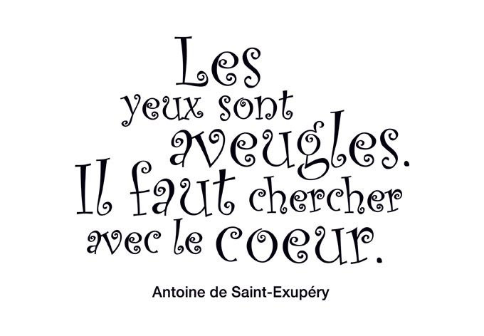 Citation du Petit Prince - Antoine de Saint-Exupéry