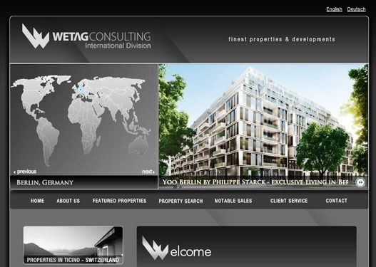 Website Real Estate Desain Terbaik - Wetag International - Locarno, Switzerland