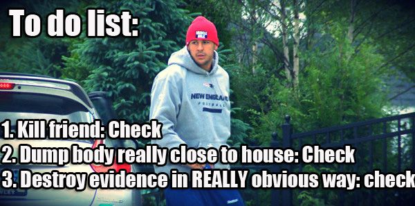 Aaron Hernandez's To Do List - #lol #meme #funnypic @ www.FunnyOnlinePictures.com