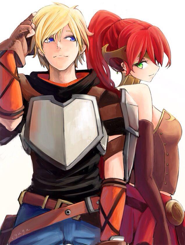 RWBY- Jaune and Pyrrha.