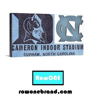Duke basketball ticket art, Duke basketball art, Duke man cave ideas, Duke man cave décor, man cave ideas, college basketball art, college basketball gifts, Row One Brand, Row One, Row One Brands