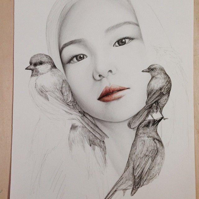 #okArt #illustration #esom #이솜 #bird #drawing