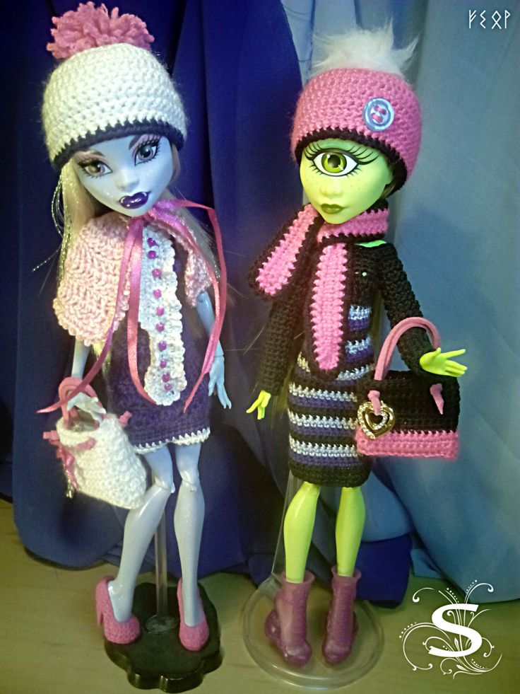 73 besten Crochet dresses for Monster High dolls Bilder auf ...