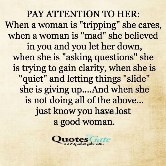 Pay attention to her