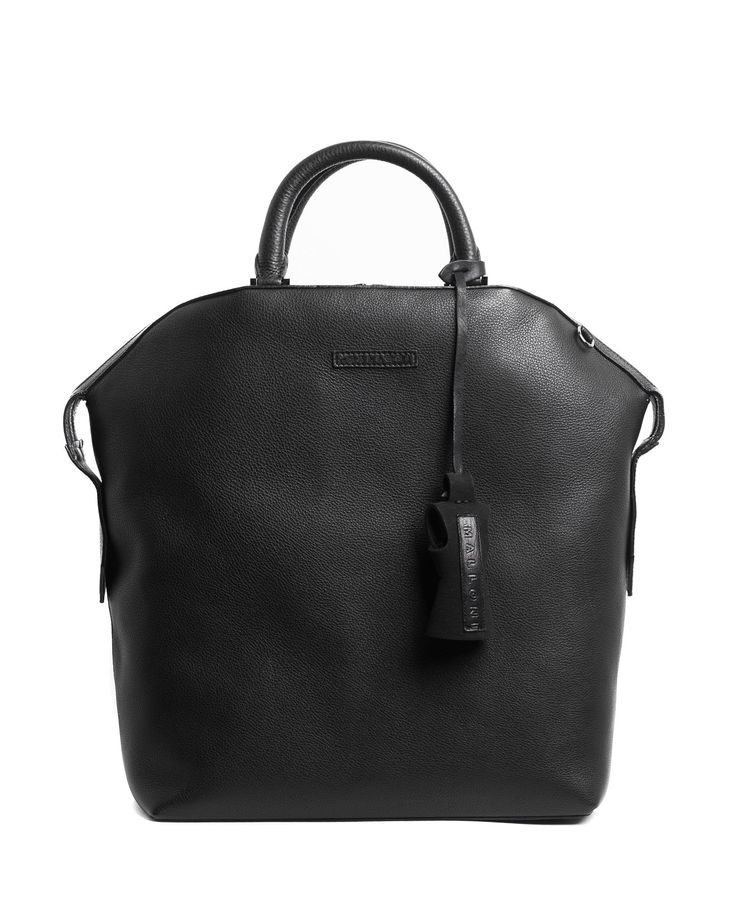 Malloni trunk bag made in real leather with double handle // Shop online at Malloni Online Boutique