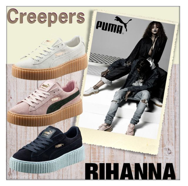 Rihanna for Puma Winter 2016 by whirlypath on Polyvore featuring WALL