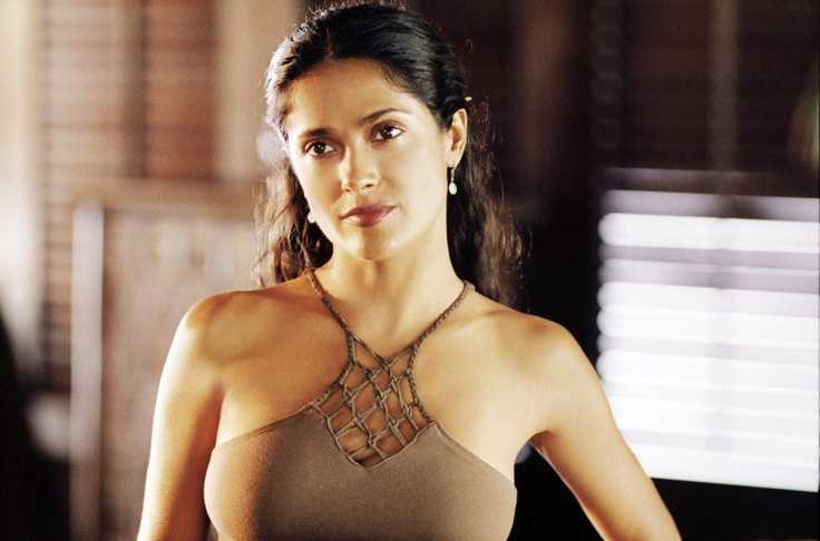 Salma Hayek || I would like to wear this exact shirt. Ok, maybe a different color. I love it!