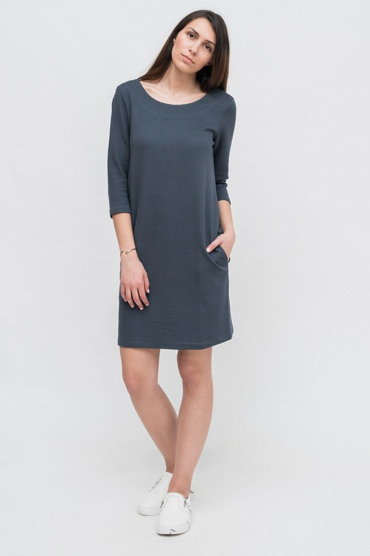 SOFT BLUE 3/4 SLEEVE DRESS from Ozon Boutique