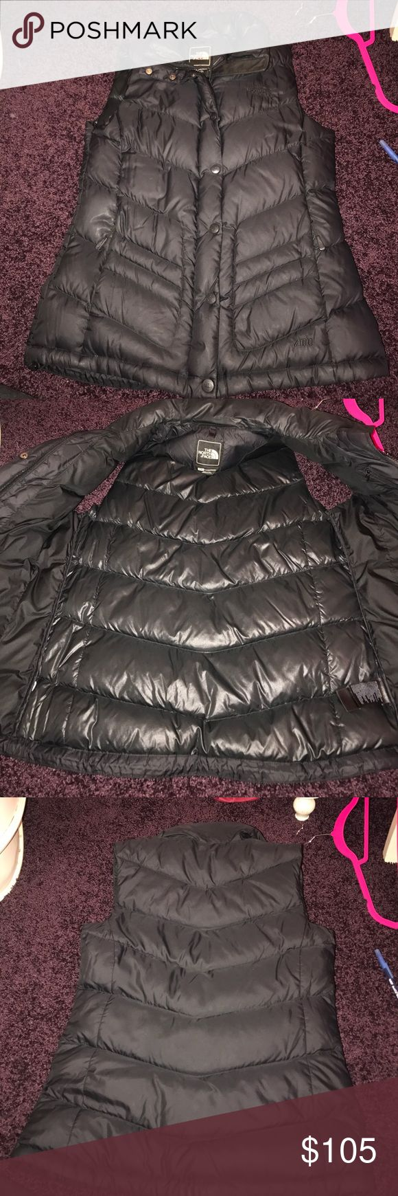 Women's north face vest Women's black north face vest with black north face symbol. Great condition! The North Face Jackets & Coats Vests