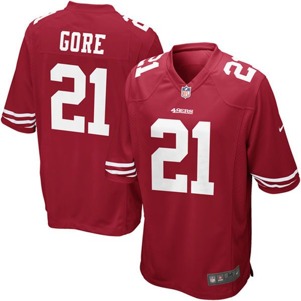 167f9ff13e5 ... White Color Frank Gore San Francisco 49ers Nike Youth Team Color Game  Jersey - Scarlet - 34.99 ...