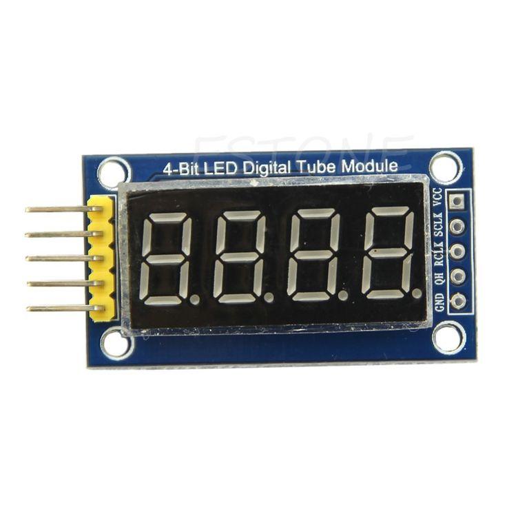 4ビットデジタルチューブledディスプレイモジュール4シリアル用arduino 595ドライバ1ピース