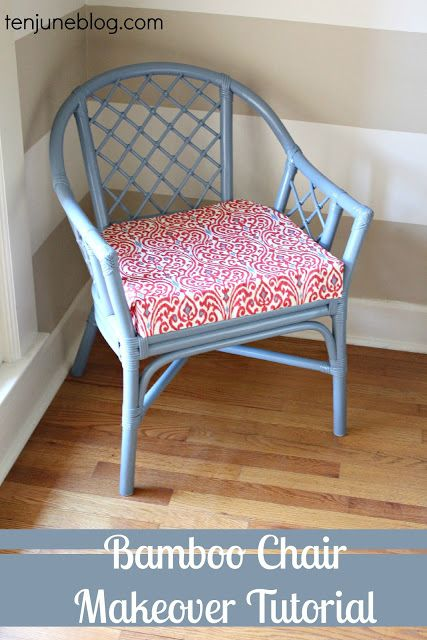Ten June: Bamboo Chair Makeover Tutorial {How I Decorate With Duct Tape}