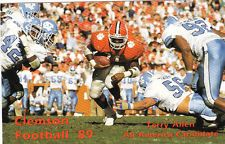 1989 CLEMSON TIGERS COLLEGE FOOTBALL POCKET SCHEDULE - TERRY ALLEN