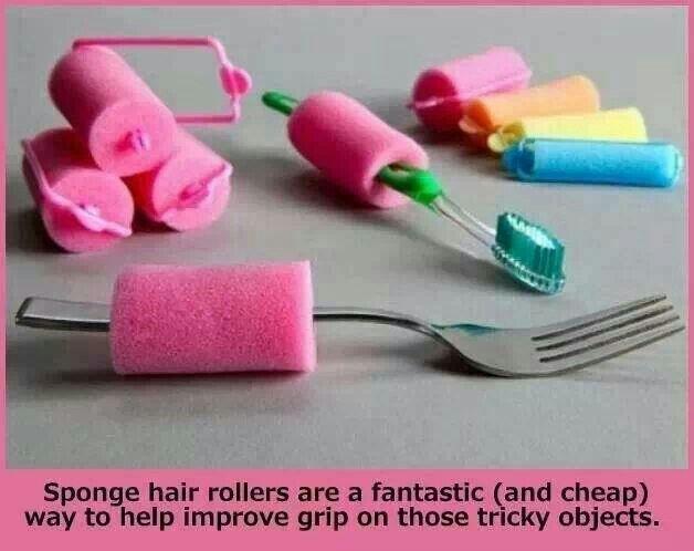 Sponge hair rollers improve grips!