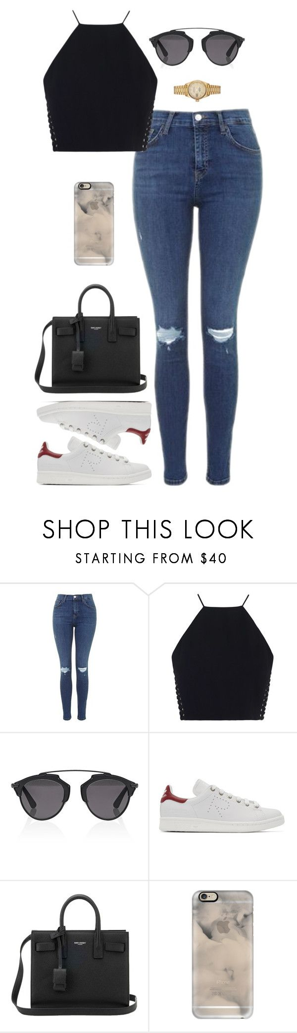 """Sin título #2246"" by namelessale ❤ liked on Polyvore featuring Topshop, Zimmermann, Christian Dior, Raf Simons, Yves Saint Laurent, Casetify and Rolex"