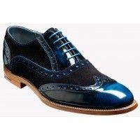 Barker Shoes Style: Grant - Classic Blue / Black / Blue Hi-Shine