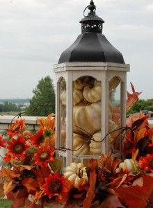 Nell Hill shows a bunch of ways to use lanterns for fall decor.