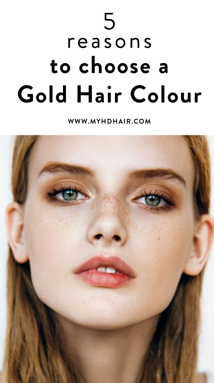 5 Reasons To squeeze Gold into your Hair Colour mixture.