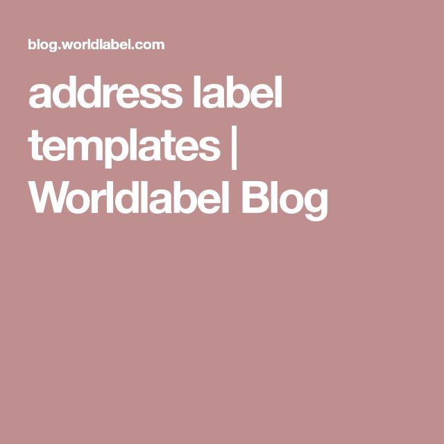Πάνω από 25 ξεχωριστές ιδέες για Address label template στο Pinterest - address label template