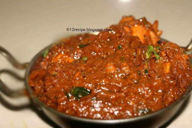 Normally onion, tomato masala is the base for most of all Indian curries. The quantity of onion is always dominant or same as that of tomato. But here as its name implies tomato is the main ingredient in the gravy of chicken.
