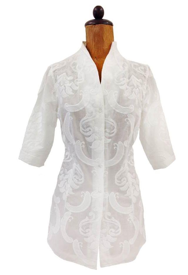 Nara Camicie's white cotton shirt.