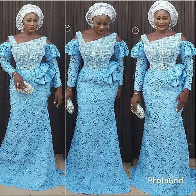 Modern & Irresistible Aso Ebi Lace Styles for Owambe Lovers...Modern & Irresistible Aso Ebi Lace Styles for Owambe Lovers