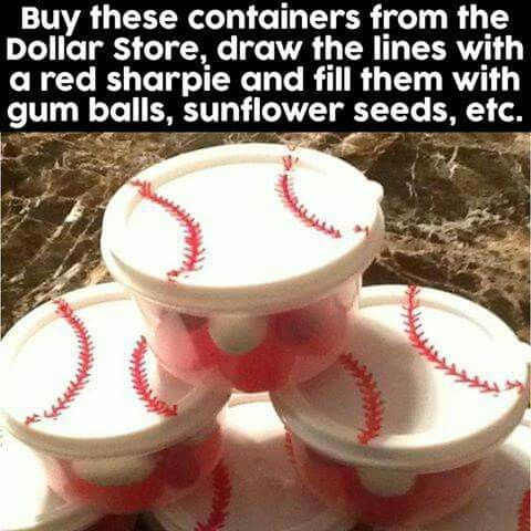 Baseball candy containers