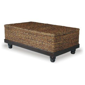 Tropical Coffee Table Abaca Small Astor with Storage Image