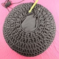Free Crochet Pattern: POOF! Floor Pillow Pouf Ottoman from Gleeful Things