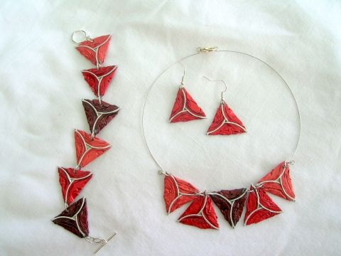 Kávéskapszulából - kits de bulbes Bermudes, bijoux, montres, colliers, Ensemble de bijoux, boucles d'oreilles, Mesko