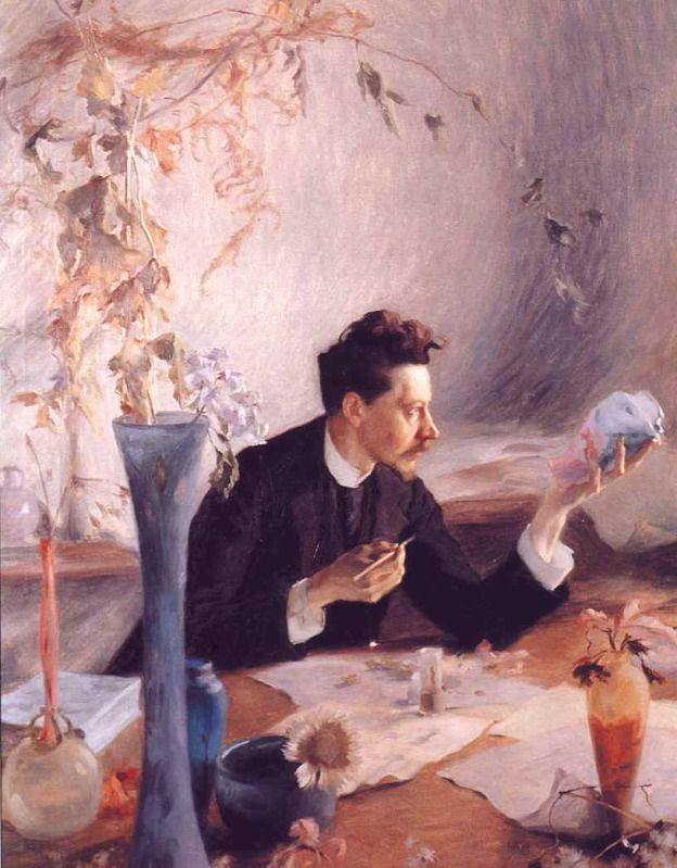 Victor Prouvé (1858-1943) - Émile Gallé (1846-1904) in 1892. Oil on Canvas. Circa 1892.