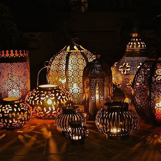moroccan lanterns used at Indian wedding