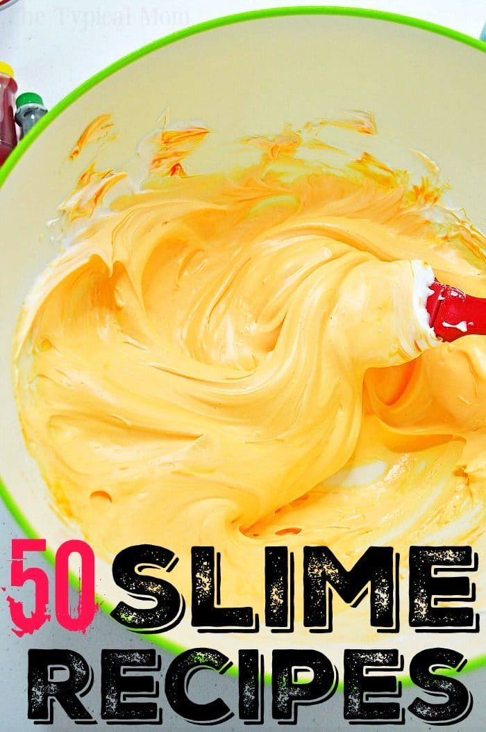 This is the ultimate roundup of slime recipes! If you're looking for the best way to make slime we have an easy way to make fluffy, crunchy, edible, soft or any other kind of slime you're looking for. Using contact solution, glue, soap or laundry detergent there are many no borax slime recipes to choose from here! #slime #recipes #howtomake #fluffy #crunchy #noborax #recipe #snot #chocolate #clear #glitter #goo #noborax #safe #homemade #goo #snow