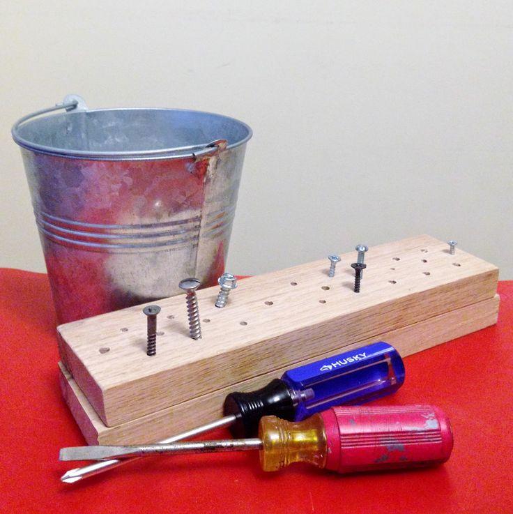 we bloom here: preschooler woodworking fun