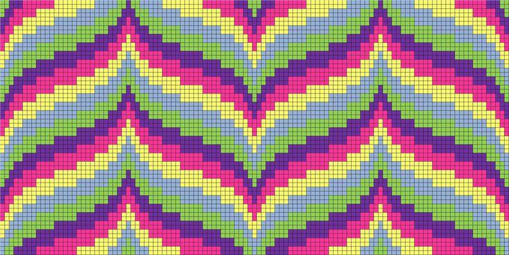 Free cross stitch pattern - 144 bargello pattern