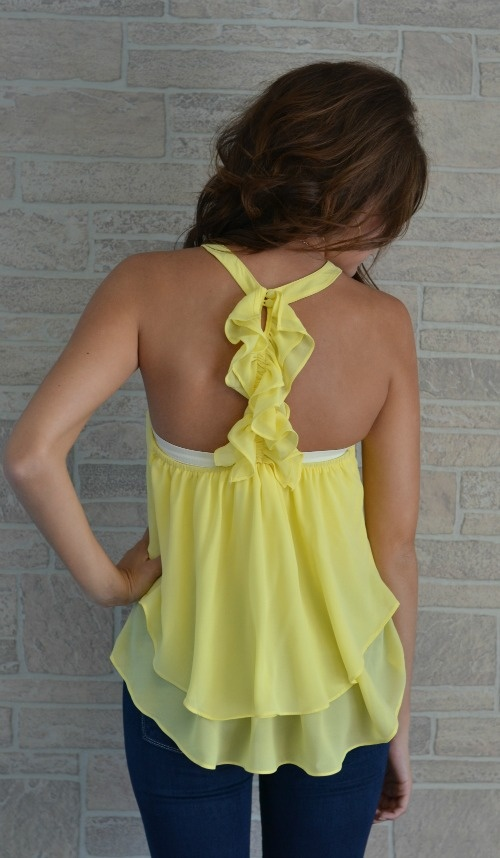 Loveeeeeeee: Cute Tops, Style, Color, Cute Tanktops, Yellow Ruffle, Shirt