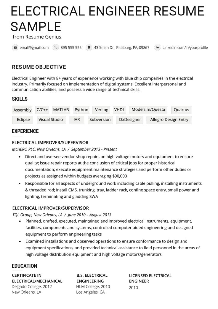 Resume Example Cv Example Professional And Creative Resume Design Cover Letter For Ms In 2020 Engineering Resume Engineering Resume Templates Good Resume Examples