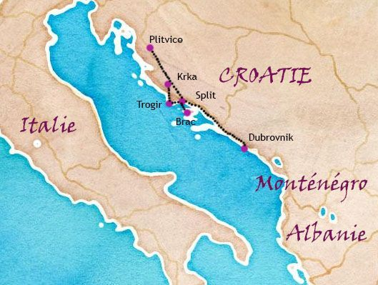 Itinéraire d'une semaine en Dalmatie