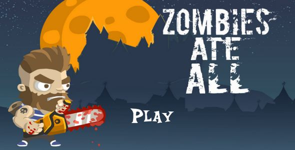 Zombies eat all . Use the device's screen , or to jump and shoot