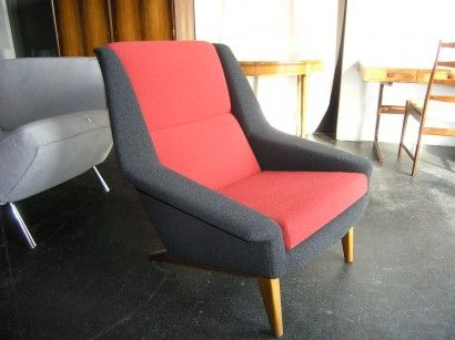High-back Danish lounge armchair by Dux (1950s)