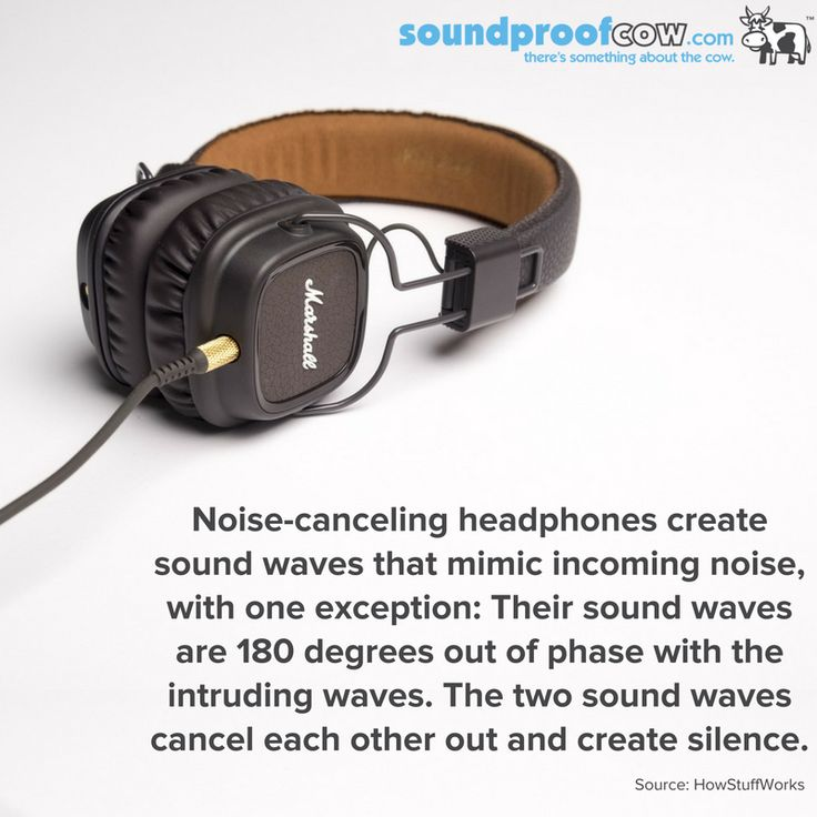 Noise-canceling headphones create sound waves that mimic incoming noise...