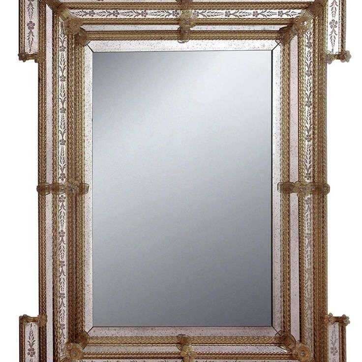 Robò Murano Glass Mirror | From a unique collection of antique and modern wall mirrors at https://www.1stdibs.com/furniture/mirrors/wall-mirrors/